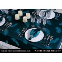 5 Star Hotel Linen Luxury Embroidered Round Wedding Table Cloth Manufactures