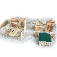 65735 mini wooden furniture, wooden children toy, wooden model bed Manufactures