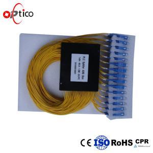 PON G657A1 1x64 Optical PLC Splitter , 2.0mm SC Connectors Splitter For Fiber Optic Cable Manufactures