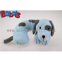 Softest Baby Neck Pillow Plush Stuffed Blue Dog Travel Neck Support Manufactures