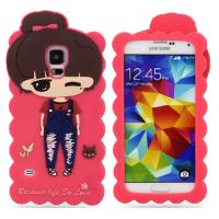 Red Protective Cell Phone Silicone Cases For Samsung Galaxy S5 Manufactures