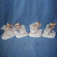 Polyresin Guard Angel Christmas Candle Holders, Customized Designs are Accepted Manufactures
