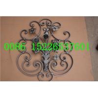 H730*W610 MM Wrought Iron Balustrades,  16*8MM Flat iron Fence And Railing Panels Manufactures