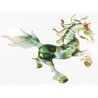 China Mixed Color Glass Animals Figurine Horse Statue For Gift , Handmade on sale