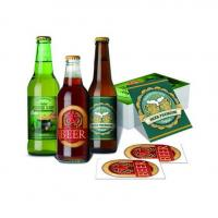 OEM Waterproof Metalized Labels Custom Adhesive Sticker Beer Labels For Wine Bottle Manufactures