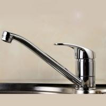 Ceramic Disc Valve Single Handle Bathroom Faucet Hot / Cold Mixer Manufactures
