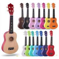 "Wholesale colorful  ukulele  21"" Soprano Ukulele Basswood Nylon 4 Strings Acoustic Bass Guitar Ukulele Musical Stringed Manufactures"