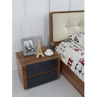 Quality Cheap FSC Certificated Good quality Upholstery headboard bed with wood storage for sale