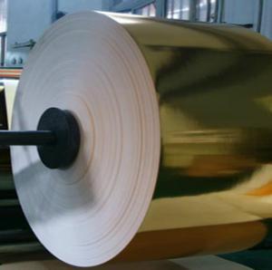 Gold Metallized paperboard Cigarettes Aluminum Foil Paper