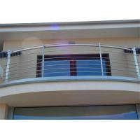 Customized Made Dressed Timber and Stainless Steel Rod Balustrade for Balcony Manufactures