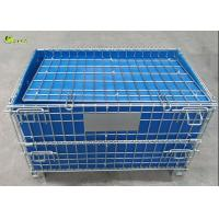 Wire Mesh Stillage Container Portable Pallet Storage Turnover Cage With Wheels Manufactures