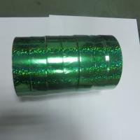 China 22mm x  50Y Green Laser Ribbon Roll In Holographic Materials Used Bird Frighten on sale