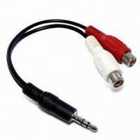 3.5mm Stereo Plug Connector to RCA Adapter Cable Assembly, with USB Control Manufactures