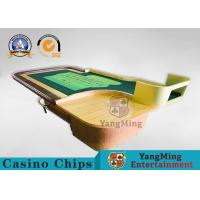 Environmentally Friendly Casino Roleta Poker Table With Wooden Roulette Wheel Manufactures
