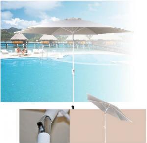 Outdoor Patio Sun Shades 9 Foot White Canopy Tiltable Market Parasol Umbrella Manufactures