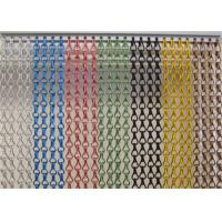 China Multicolor Aluminum Chain Fly Screen , Elegance Door Fly Screen Curtain on sale