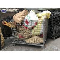 Heavy Duty Wire Mesh Pallet Cages Galvanized Cold Drawn Steel Foldable Basket Manufactures