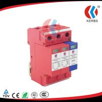 Protect Solar Combiner Box By 1000V 40KA 3p photovoltaic lightning protection unit Manufactures
