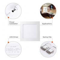 18W 8 Inch Dimmable Ultra Thin Square LED Panel Light 120W Incandescent Equivalent Manufactures