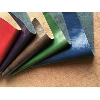 Genuine Leather Fabric with natural leather composition and pu coating