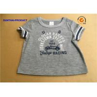 Overall Size Baby Boy Short Sleeve T Shirt , Heather Gray Kids Short Sleeve Tops Manufactures