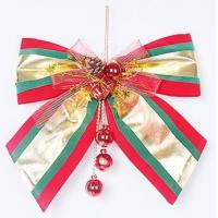 Christmas tree ornaments large bows hang holiday hotel mall wedding scene layout hang act the role ofing is tasted Manufactures