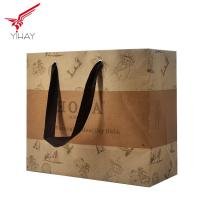 China Free sample Custom cheap large brown kraft grocery paper bag with handle on sale