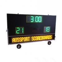 China Electronic Waterproof Outdoor Soccer Scoreboard With Message Sign / Moving Stand on sale