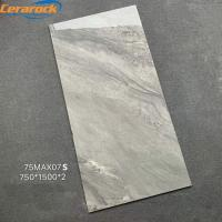 Brown Color Full Body Polished Marble Tiles Low Water Absorption 750*1500 mm Size Manufactures