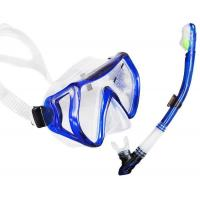 High Waterproof Performance Dive Mask Snorkel Set For Underwater Diving Manufactures