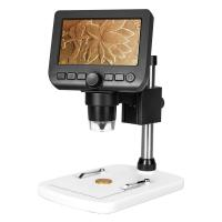 Brightness Adjustable Digital LCD Microscope DC 5V/1A Manual Focus 5mm To 80mm Manufactures