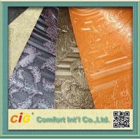 China Waterproolf Metallic PVC Artificial Leather Fabric Material For Bags Upholstery / Car Seat wholesale