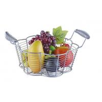 Food Grade Metal Mesh Wire Fruit Basket Stainless Steel Material For Home Storage