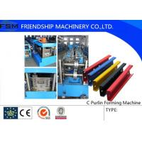 Automatic Steel C Purlin Roll Forming Machine For The Aluminum And Galvanized Manufactures