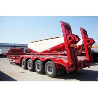 Transport Construction Machinery Low Bed Trailer , Semi Trucks Cargo Trailer Manufactures