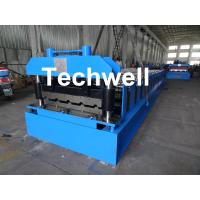 Roof Wall Panel Cold Roll Forming Machine / Roof Wall Cladding Roll Forming Machine With PLC Control System Manufactures