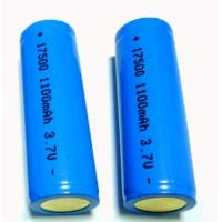 Buy cheap 1100mAh charging  Lithium Ion Cylindrica Battery LIR 17500  3.7v  for Office automation from wholesalers