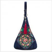 Charming Embroidery Jean Women shoulder bag big size fashion messenger bag for women shopping and travel Manufactures