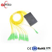 1x16 PLC Fiber Optic Splitter , ABS Module 2.0mm GPON Optical Splitter Manufactures