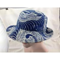 China Full Printing Floral Cotton Bucket Hat Leisure Bucket Hat for Ladies on sale