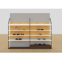 Leisure Shoe Store Display Shelves / Footwear Display Stands With KD Version Manufactures