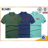 Men'S Navy Color Personalized Polo Shirts Stand Collar Fashion T - Shirt Manufactures