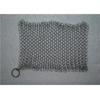 Kitchen Cleaning Chainmail Scrubber For Cast Iron Cookware , Stainless Steel 316 Manufactures