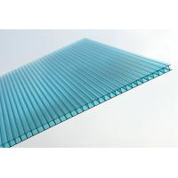 Waterproof Blue Polycarbonate Sheet / Double Wall Polycarbonate Greenhouse Panels Manufactures