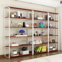 China Cast Iron Metal Shelving With Wood Shelves Modern Appearance Easy Installation on sale
