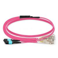 China Lc To Lc Multimode Duplex Fiber Optic Patch Cable OM1 OM2 OM3 OM4 1m MPO on sale