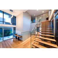 Stainless steel spigot glass railing/ glass balustrade with laminated glass panel Manufactures