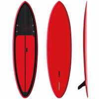 "Red Inflatable SUP Board 9'6"" Firberglass Plate Design Fast Speed High Durability"