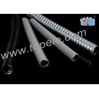 Electrical Galvanized Steel PVC Flexible Conduit And Fittings Grey Manufactures