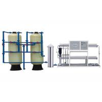 China 5000LPH RO Water Treatment Equipment , 2 Stage RO Water Purifier With FRP Tanks on sale
